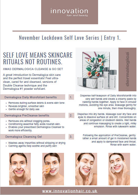 Self love means skincare rituals not routines