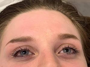 Before and after Lashlift